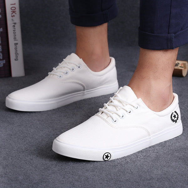 Flat Canvas Sober Mens Shoes