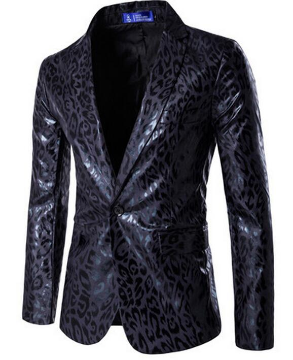 Nightclub Leopard Print Mens Jacket