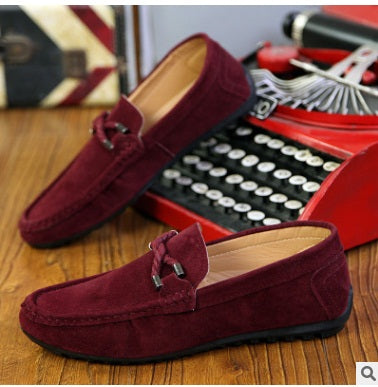 Casual Canvas Flats Leather Mens Shoe