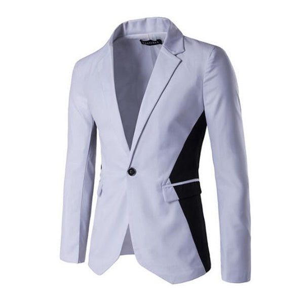 Slim Fit Patchwork Designer Mens Blazer