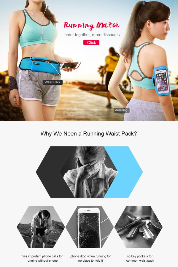 Sport Running Waist Pack Waterproof Belt
