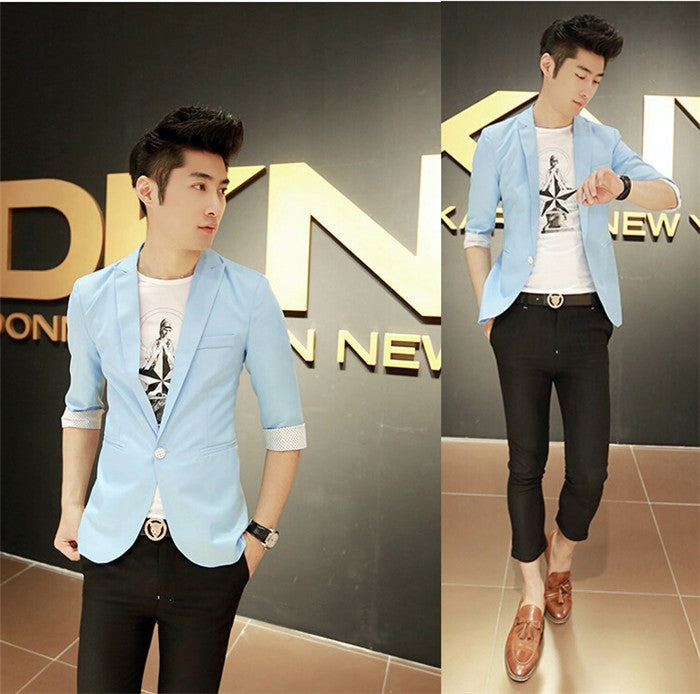 Korean Style Business Mens Casual Blazer