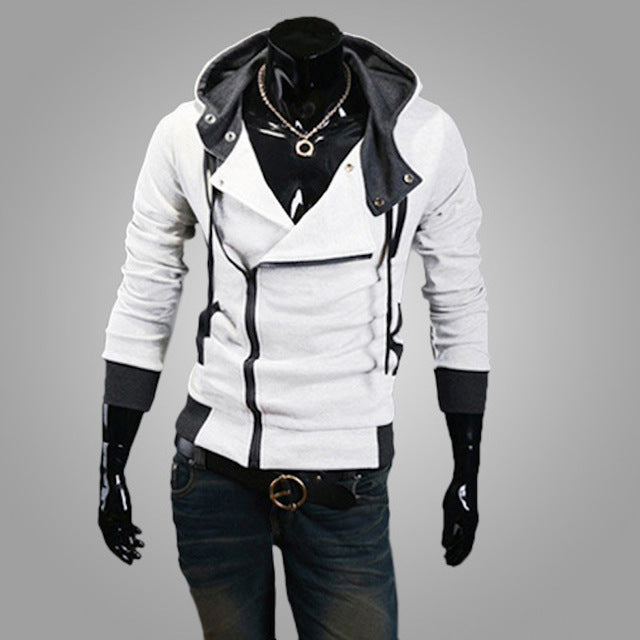 Male Tracksuit Hooded Jacket Casual