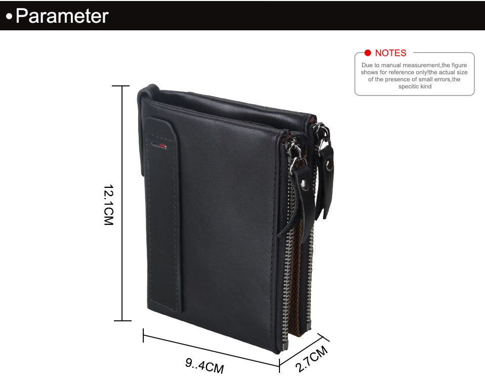 Crazy horse genuine leather men wallets credit business card holders crazy horse genuine leather men wallets credit business card holders double zipper leather wallet purse reheart Choice Image