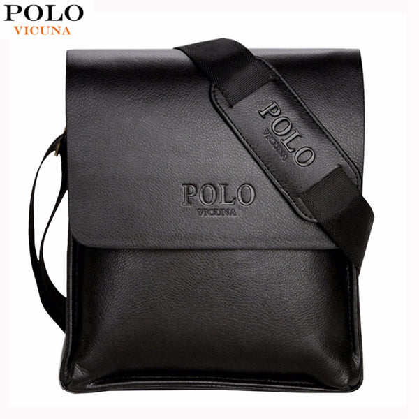 POLO Leather Men Bag Casual Business Leather Mens Messenger Bag Vintage Men's Crossbody Bag bolsas male