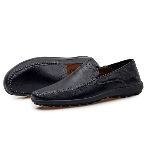 Casual Soft Flat Leather Mens Loafer