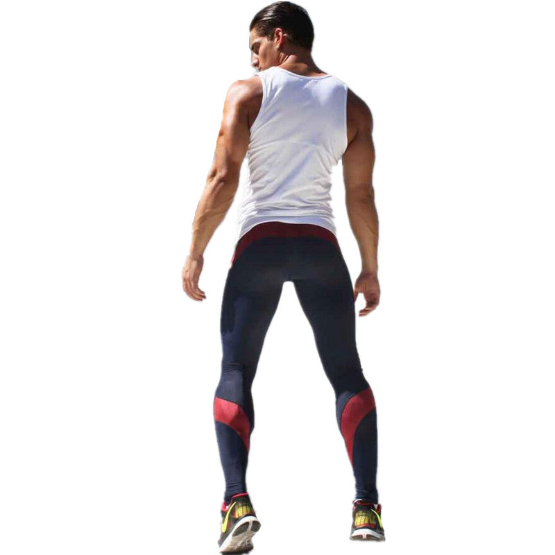 Mens Joggers Compression Track Pants Specially designed High Stretch Men Splicing Polyester Pantalon Men Pants Tracksuit Bottoms