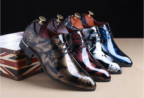 Fashion Mens  Pointed Toe PU Leather Shoe