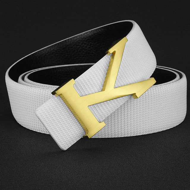 High Quality K designer belts mens Letter Casual Genuine leather off White  cintos masculinos ceinture homme fashion Waist Strap