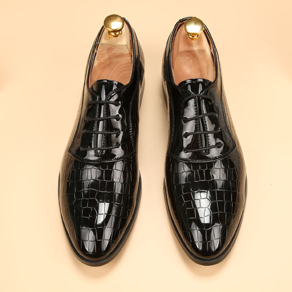 men shoes luxury brand loafers glossy mens patent leather dress oxford shoes for men
