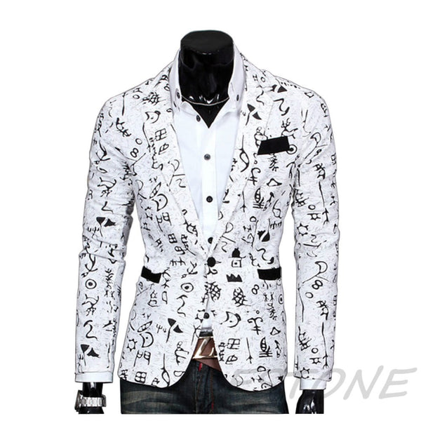 Stylish Slim Fit Three Buttons Casual Mens Blazer