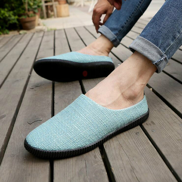 Summer Men Shoes Breathable Slip-on zapatos