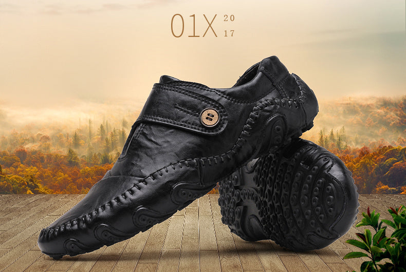 British Style Genuine Leather Elegant Style Mens Casual Shoe