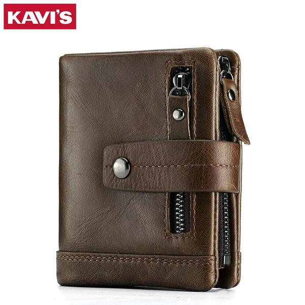 Genuine Leather Wallet Men PORTFOLIO MAN Male Small  Purse Pockets Slim Rfid Fashion Mini Walet