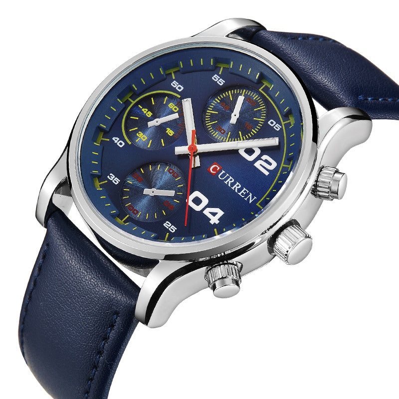 Branded Luxury Mens Watches Male Blue Dial Clocks