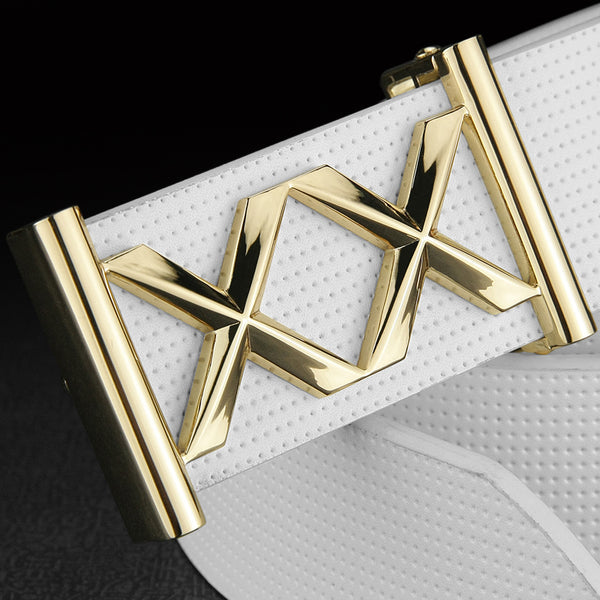 Double X letter buckle Metals White designer belts for men belt genuine leather luxury brand Casual cinto masculino Waistband