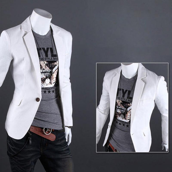 Casual One Button Mens Blazer