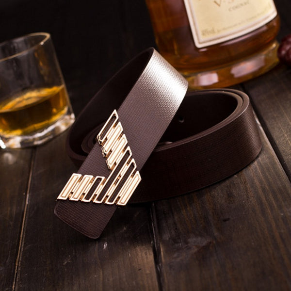 men belt genuine leather pu mixed high quality fashion designer brand luxury waist strap