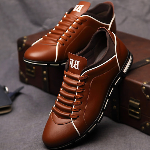 Mens Stylish Genuine Leather Sneakers