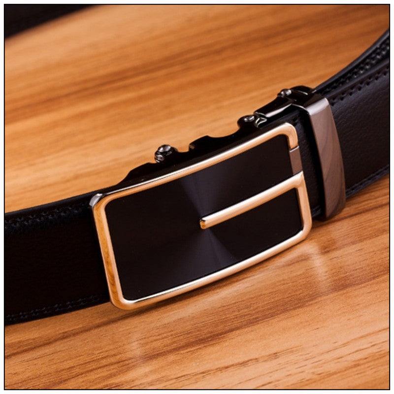 Classic Men PU Leather Alloy Automatic  Belt