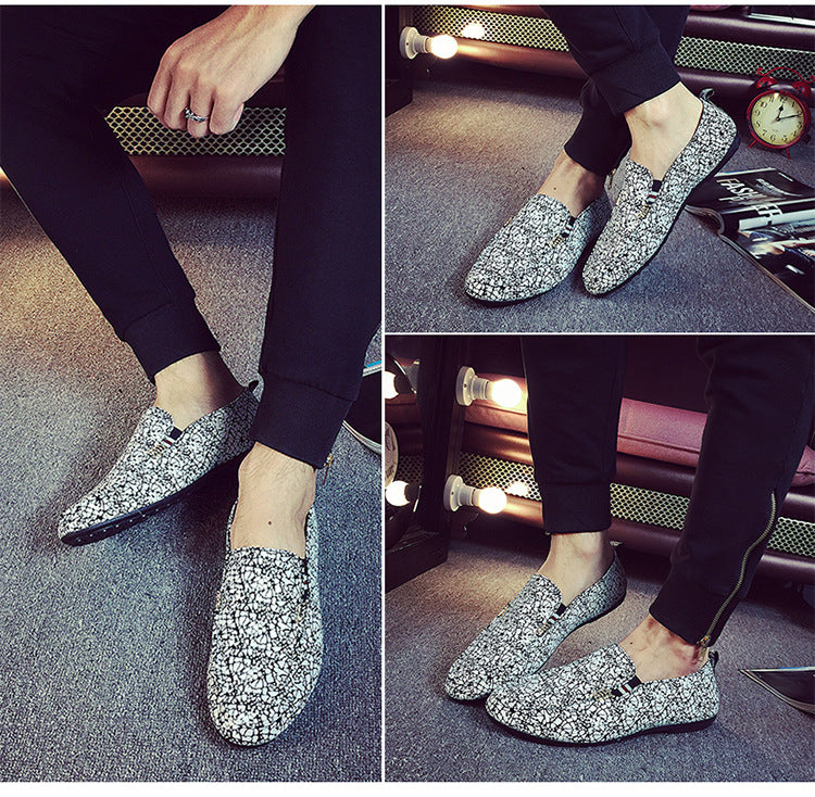 Fashionable PU Leather Casual Shoe