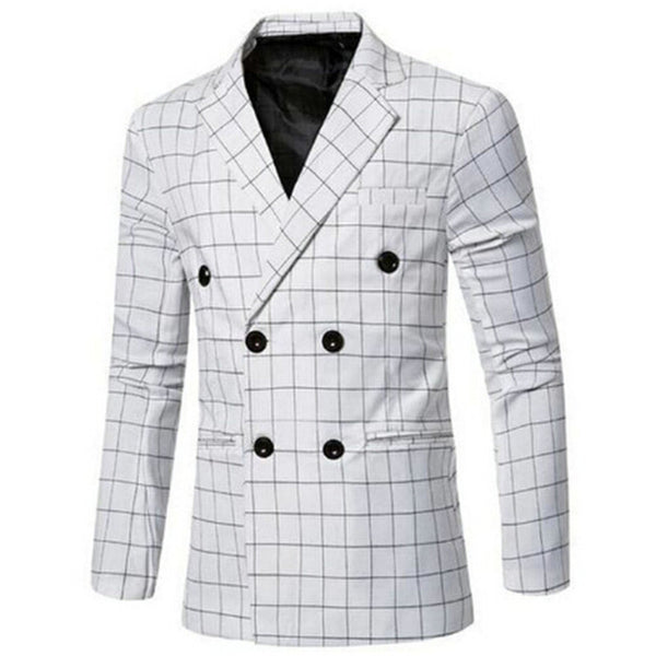 Men's Double Breasted British Style Blazer