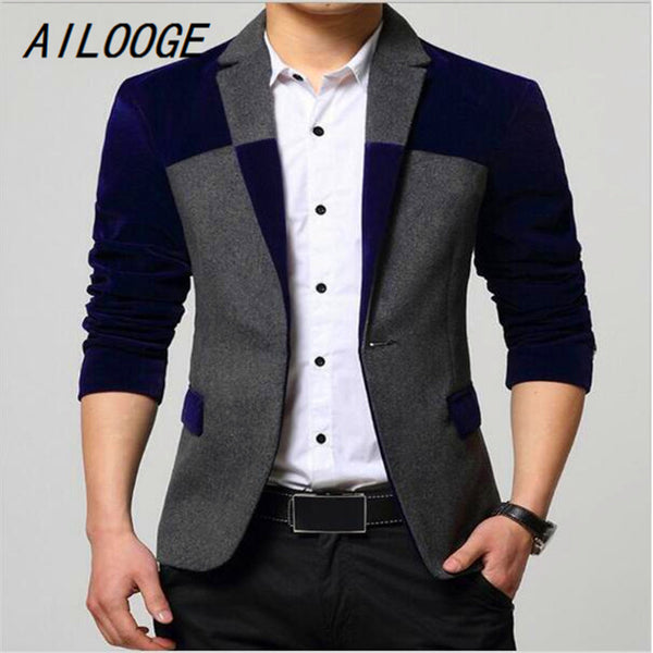 Mens Patchwork Stylish Blazer