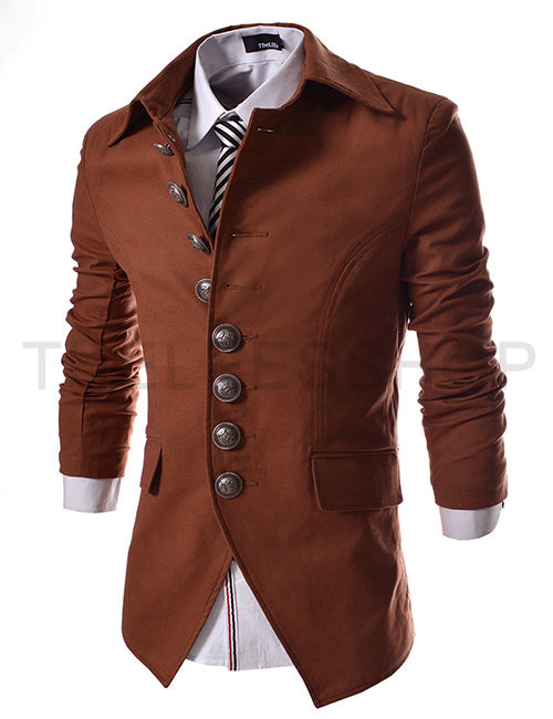 Multi-button Designer Men's Casual Slim Fit  Jacket