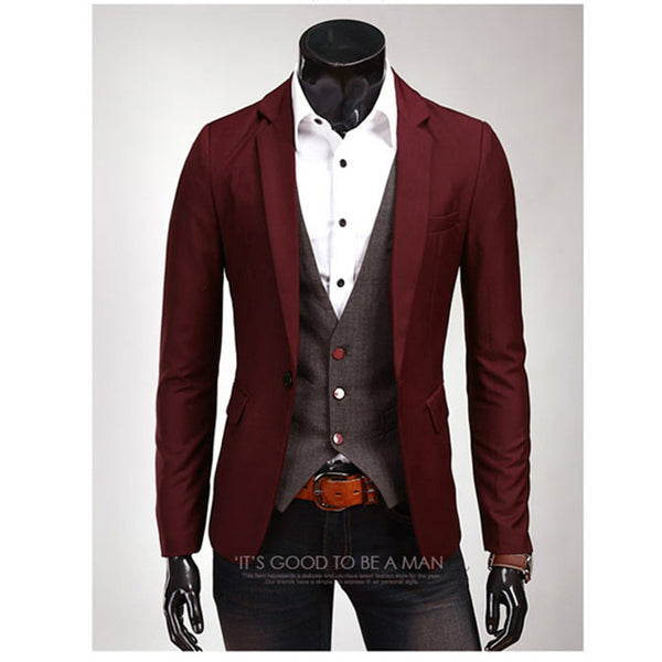 Linen Single Button Decent Mens Blazer