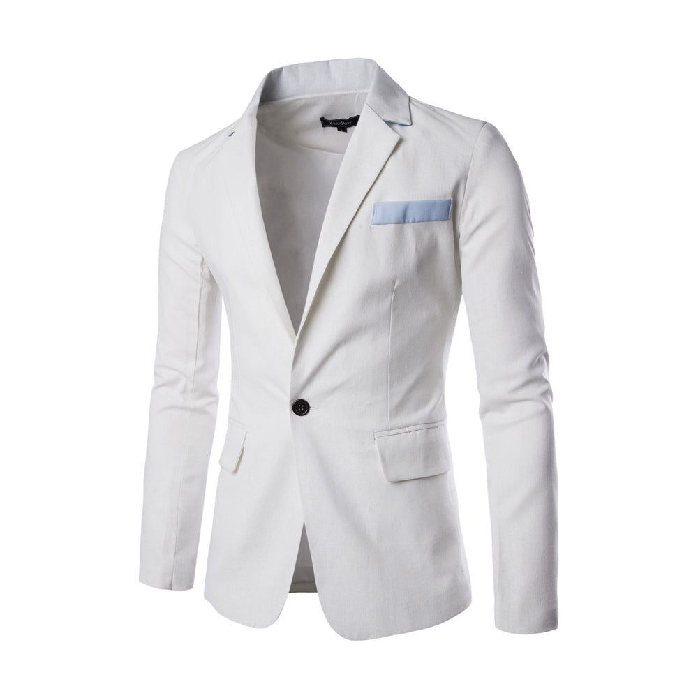 Masculine Single Button Royal Mens Blazer