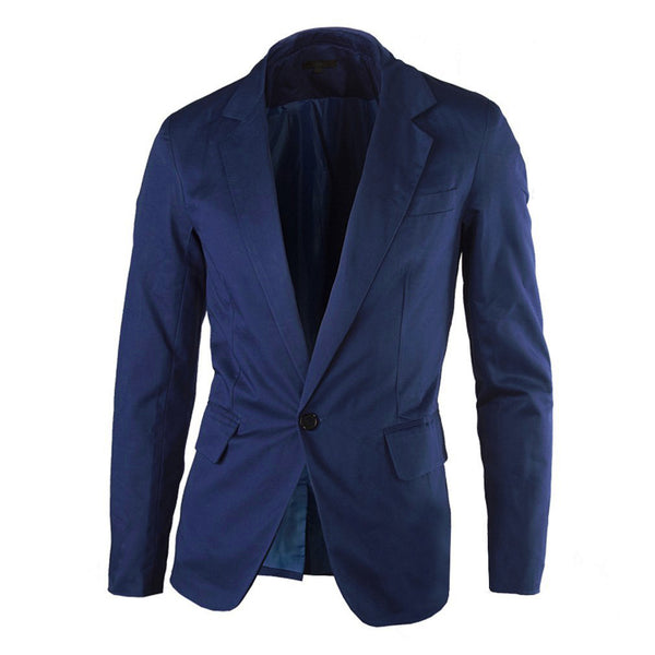 Casual Slim fit One Button Mens Blazer