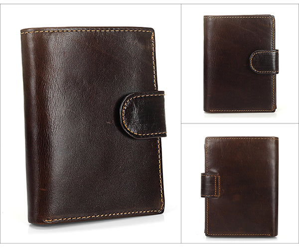 Vintage Men Wallet Genuine Leather Short Wallets Male Multifunctional  Purse
