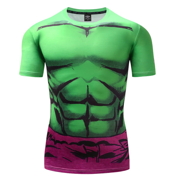 Hulk  New Green Lantern SuperheroT Shirts Compression Shirt 3D Short Sleeve T Shirt Fitness Men Crossfit Tops