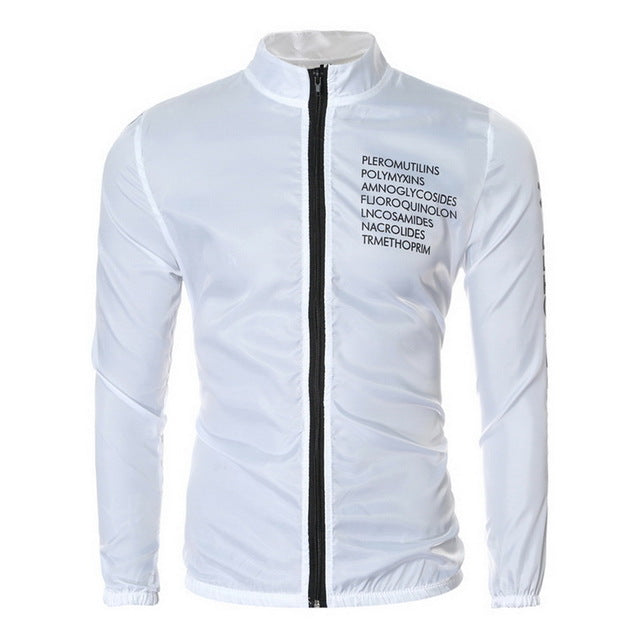 Brand New Men Jacket Casual Letter Printed Slim Fit