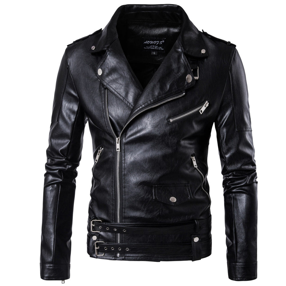 2017 PU Leather Black Jackets For Men Short Cool Best Designer Faux Leather Blazer Mens Casual Fashion Slim Coats Jacket