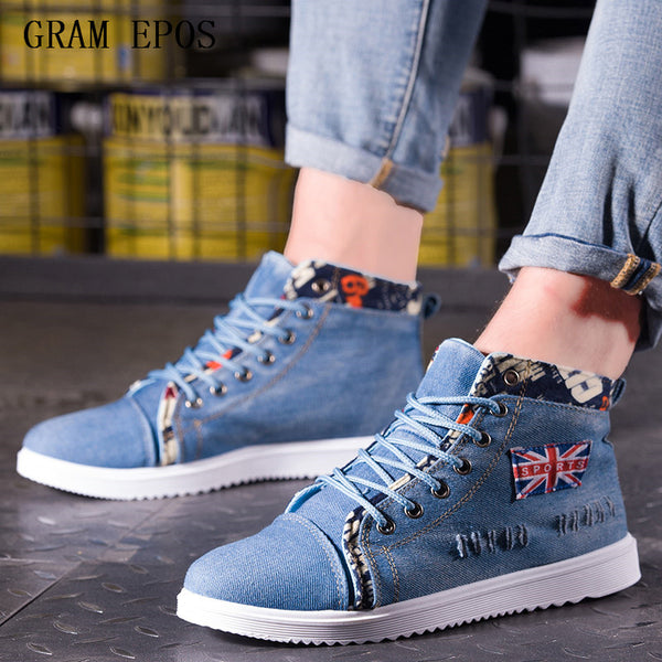 New  High Quality Men  Fashion High top Men's Casual Shoes British