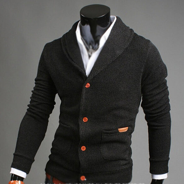 Fashion Sweater Lapel Mens Cardigan Sweater Fashion Knitted Sweater