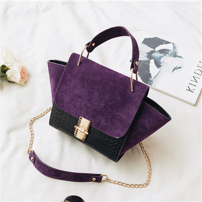Chain Vintage Patchwork Leather Bags Handbags Women