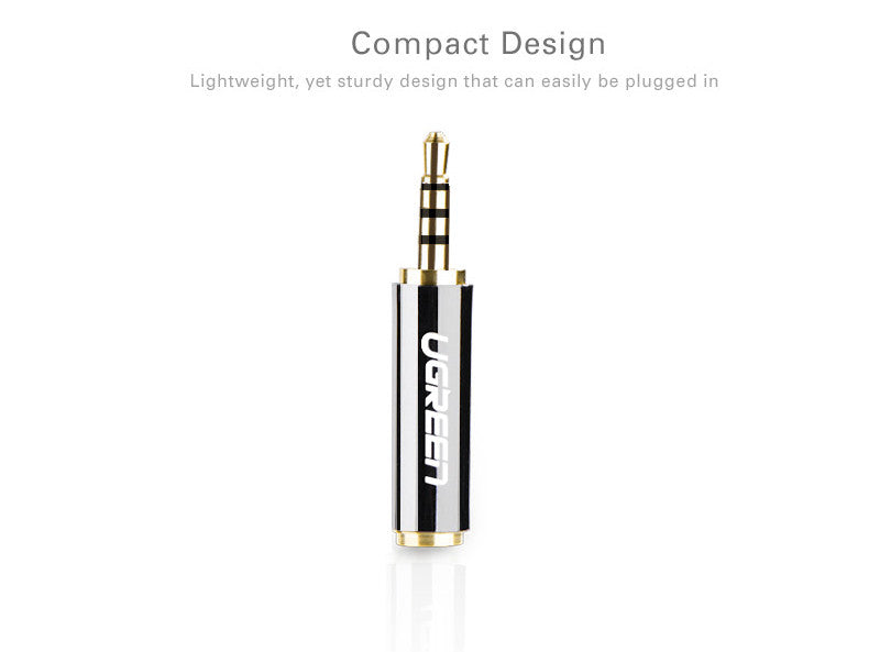2.5 mm Male to 3.5 mm Female Full Metal Earphone Audio Headphone Adaptor