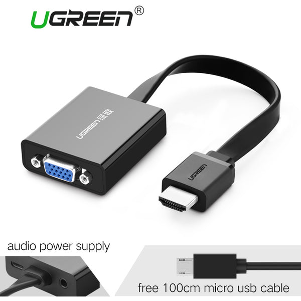 HDMI to VGA Adaptor For PC, Laptop, Xbox, PS4