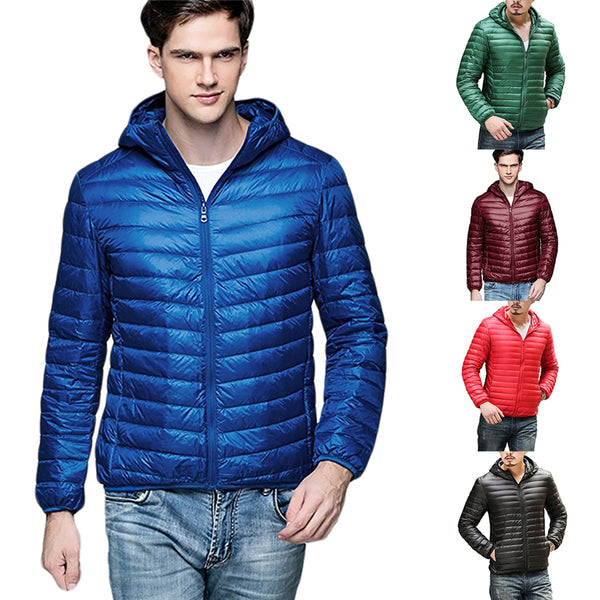Mens quilted Jackets And Coats Thin Men Outwear