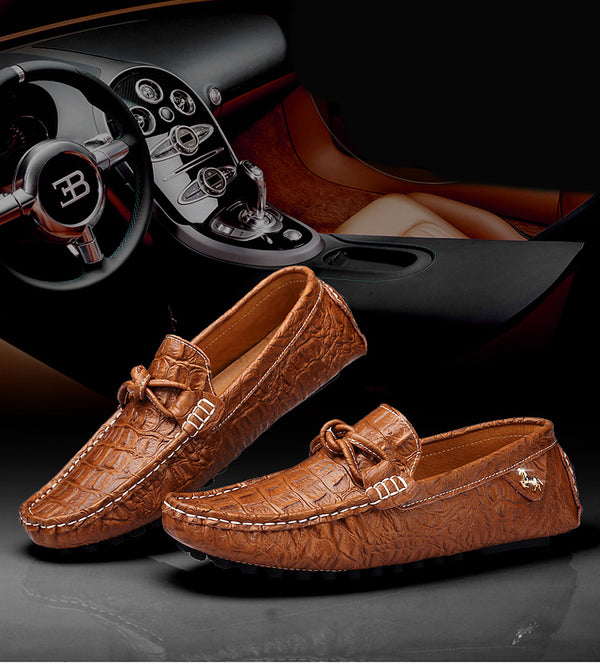 Summer Autumn Slip-On Men Loafers Men Genuine Leather Shoes Luxury Brand Men Shoes Designer Flats Men Boat Shoes