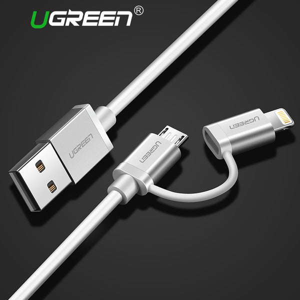 2 in 1 Lightning to Micro USB Fast Charging Cable