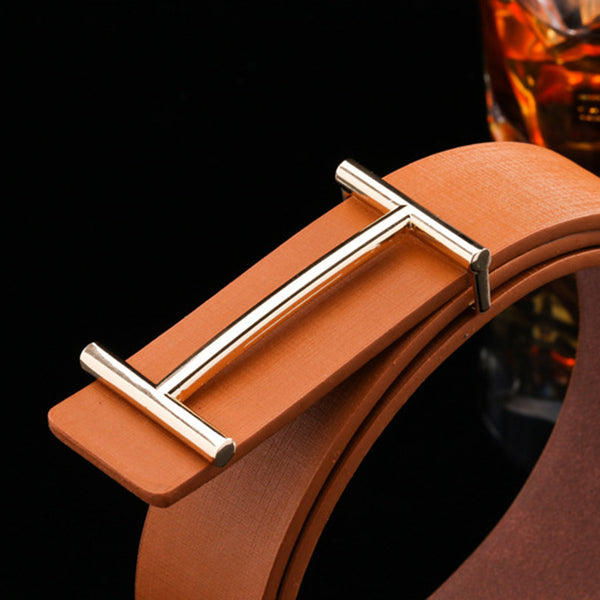 Luxury Men Designer PU Leather Belt