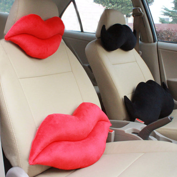 Men Women Car Seat Cushions, Masculine - Feminine red and Black