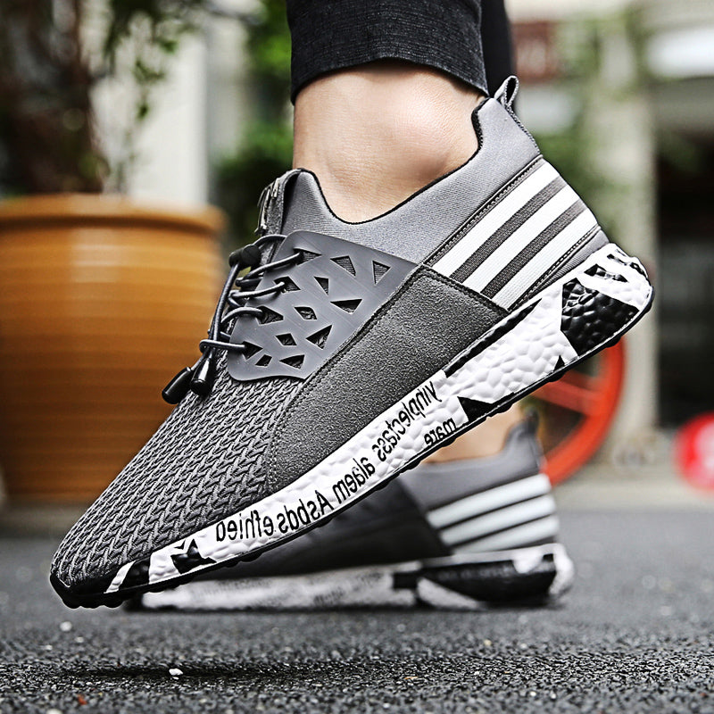 New Men Shoes Lace up Fashion Mesh Spring Autumn Sweat Casual shoes For Male