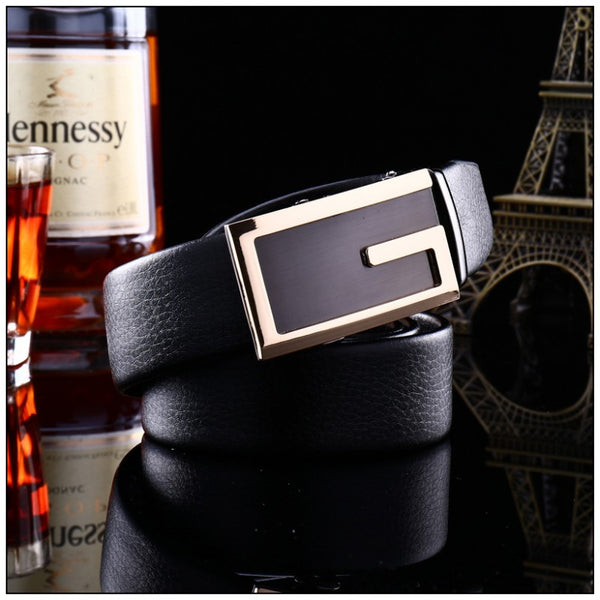 Business Man  PU Leather Automatic Buckle Belt