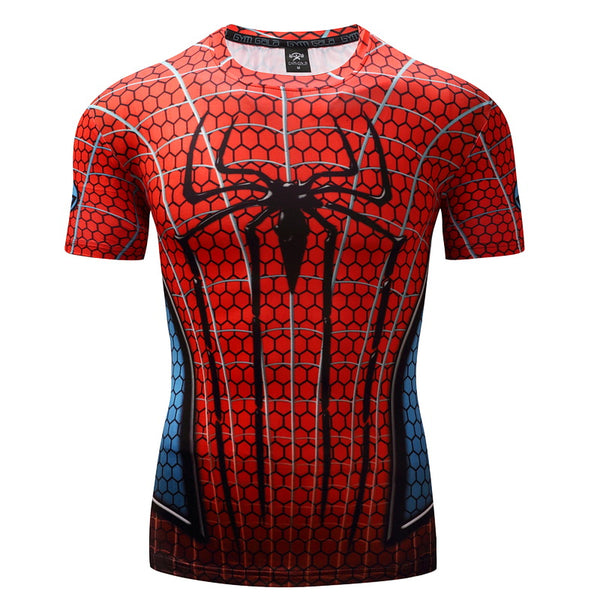 Venom Compression Shirt 3D Printed T-shirts Men Spiderman Short Sleeve Crossfit Fitness Cloth Tops Male Cosplay Costume 2017
