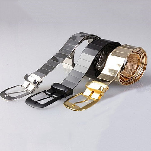 Men Fashion Alloy Buckle Strap Punk Ceinture Cool Durable Waistband Casual Belt Fast Shipping