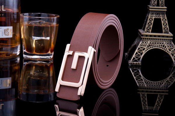 Classic Leather High Quality Men's Belts Casual All-Match Pin Buckle Man Brown Belt